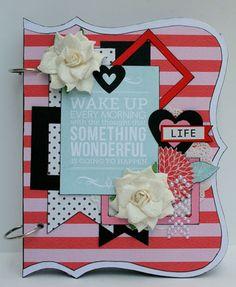 My Creative Scrapbook August Album kit designed by Kristin Greenwood.