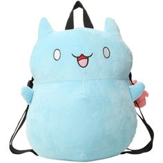 Cartoon Hangover Bravest Warriors Catbug Plush Backpack | Hot Topic ($75) ❤ liked on Polyvore featuring bags, backpacks, accessories, backpack, blue, daypack bag, cartoon backpack, comic book, blue backpack and cartoon bag