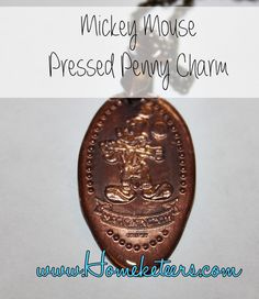 MickeyMousePressedPennyNecklaceCharm (any pressed penny! Great souvenir! )