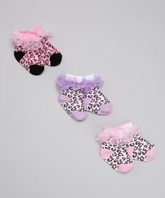 Leopard ruffle socks