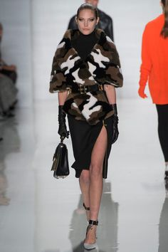 How amazing is that camo fur at Michael Kors F/W 2013?! I would hate to be the furrier who had to piece that together.