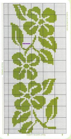 Anaide Ponto Cruz: Cross stitch charts for towels. Cross Stitch Bookmarks, Cross Stitch Borders, Cross Stitch Rose, Cross Stitch Flowers, Counted Cross Stitch Patterns, Cross Stitch Charts, Cross Stitch Designs, Cross Stitching, Cross Stitch Embroidery