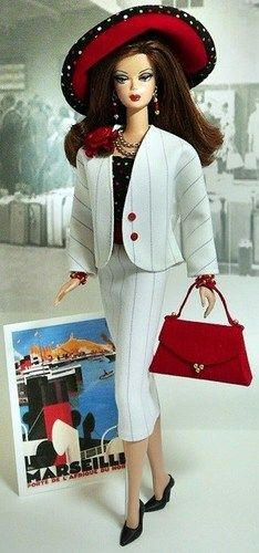 Pin-stripe Travel Suit by Donna's Doll Designs