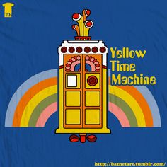 When two worlds collide... Yellow Time Machine by ~BazNet on deviantART