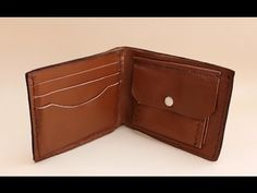 Making a leather wallet - YouTube