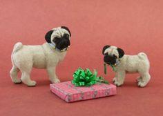 Dollhouse Miniature Pug Dog Puppy by Paizley Pawz OOAK