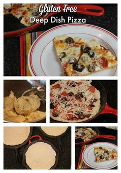 Gluten free pizza crust.  Love the cast iron skillet idea
