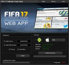 The fastest, easiest way to get FIFA 17 Ultimate Team Hack Unlimited Coins is from presented on this website. Updated version of FIFA 17 Ultimate Team Hack Unlimited Coins running up to date.