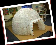 Igloos are cool. You can easily build an milk jug igloo in your classroom with some planning, lots of milk jugs and hot glue. For example, the... ~ adore it