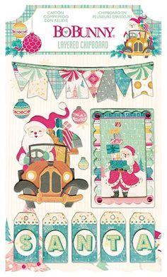 Bo Bunny - Candy Cane Lane Collection - Christmas - Layered Chipboard Stickers with Glitter and Jewel Accents at Scrapbook.com