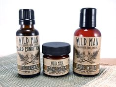 Items similar to Man Gift Set BEARD Conditioner Wash Cream Wild Man Beard Oil on Etsy, a global handmade and vintage marketplace.