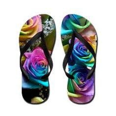 Rose Rainbow Flip Flops > Rose Rainbow > Cherokees World Photography