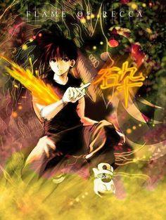 Flame of Recca. Have Yet to watch the anime. Loved the manga. Flame Of Recca, Boku No Hero Academia, Manga Anime, Cartoon, Otaku, Fandoms, Watch, Handsome Guys, Manga