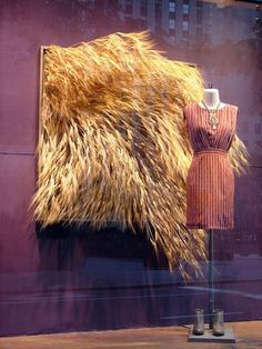 anthropologie wheat display | Window Displays
