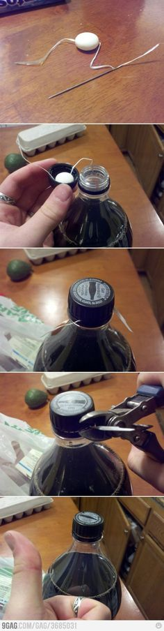 Coke + Mentos prank Please be careful doing this as it creates an extreme amount of pressure that can harm a person especially if opened toward the face!!!