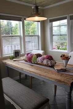 Nice farmhouse table.
