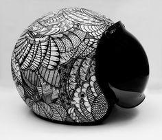 customized helmet by Rebecca Bonaci, via Behance