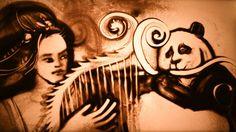 "AMAZING sand art by""Ukraine's Got Talent"" winner Kseniya Simonova - ""Legends of China"" Sand Painting, Sand Art, Light Painting, Contemporary Artists, Modern Art, Value In Art, Middle School Art, Process Art, Cool Artwork"