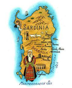 Stefano Vitali - Map of Sardinia
