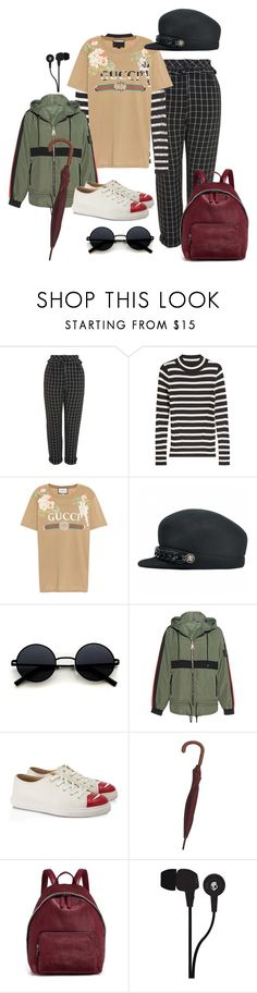 """""""APLA D10"""" by rebeccagrace515 ❤ liked on Polyvore featuring Topshop, Steffen Schraut, Gucci, P.E Nation, Charlotte Olympia, STELLA McCARTNEY and Skullcandy"""
