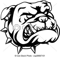 Vector - Tough Bulldog - stock illustration, royalty free illustrations, stock clip art icon, stock clipart icons, logo, line art, EPS picture, pictures, graphic, graphics, drawing, drawings, vector image, artwork, EPS vector art