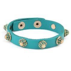 Studded Isis Leather Wrap Bracelet www.louloujewelry.com