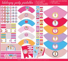Lalaloopsy Birthday Party Printable Package, Rag Doll Party Printables, Girls Party, DIY party supplies on Etsy, $24.13