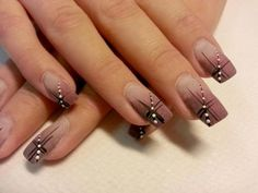 stylish dress before the New Year. There are new nail trends replaced by others year after year. Some nail designs give way to others and become less popular. Nails for New Years 2018 will be special too. We'll tell you about preferred colors, fashionable Beautiful Nail Designs, Beautiful Nail Art, Stylish Nails, Trendy Nails, Fancy Nails, Cute Nails, Brown Nail Art, Brown Nails, Brown Art