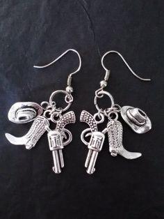 Country Girl Earrings by TTMoonAndBack on Etsy, $10.00
