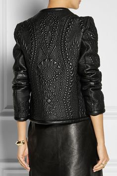 Emilio Pucci | Quilted leather jacket | NET-A-PORTER.COM