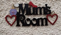 Items similar to MUM'S ROOM door plaque. Laser-cut and hand-painted. on Etsy Door Plaques, Room Doors, Handmade Wooden, Custom Paint, Laser Cutting, Mothers, Hand Painted, Gifts, Etsy