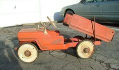 Dump truck pedal car