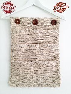 8 bolsillos Crochet organizador organizador de la puerta