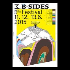 Poster for B-Sides Festival by Megi Zumstein and Claudio Barandun → hi-web.ch . . . . #poster #design #graphic #art #lettering #typography #type #graphicdesign #posterdesign #visual #inspiration #branding #dailyinspiration #exhibition #event #festival #exhibitionidentity #eventidentity #festivalidentity #publishing #zine #newsletter #plakat #culture