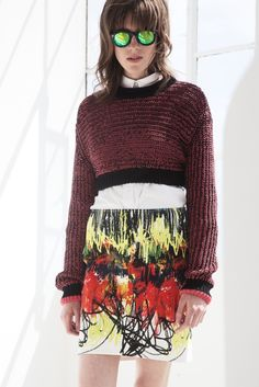 Cédric Charlier Resort 2014 [Courtesy Photo] There is something about the scribble! CAbi Style Fall 2013 shrunken sweatshirt style...