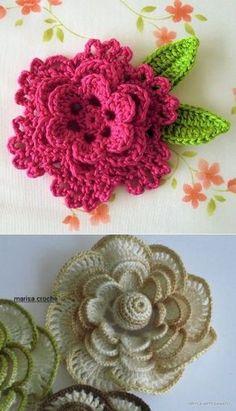Watch The Video Splendid Crochet a Puff Flower Ideas. Phenomenal Crochet a Puff Flower Ideas. Crochet Butterfly Pattern, Crochet Puff Flower, Crochet Flower Tutorial, Crochet Square Patterns, Crochet Diagram, Flower Applique, Crochet Squares, Crochet Designs, Crochet Flowers