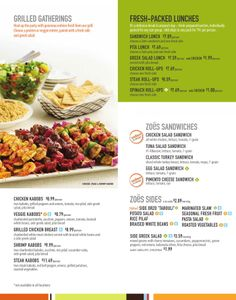 zoes kitchen catering - Zoes Kitchen Okc