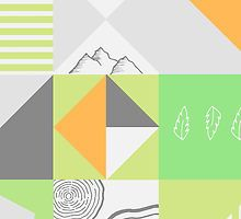 Simple Scandinavian Nature Pattern by caddystar