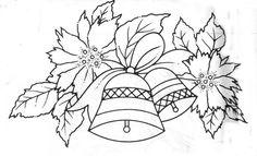 Cantinho da Jana: Risco para pintura em tecido de sino natalino