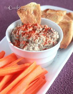Roasted Eggplant Dip- Baba Ghanoush