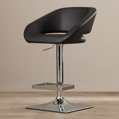 Found it at AllModern - Pete Adjustable Height Swivel Bar Stool with Cushion