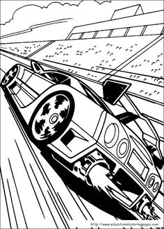 Cool Race Car Turbo Coloring Page