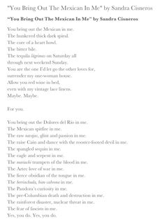 Image result for poems by sandra cisneros | Words are Spells ...