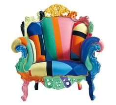 Cappellini Proust Geometrica Armchair was designed by Alessandro Mendini after a piece first created in 1978
