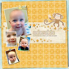Adorable Digital Scrapbooking Layout by Trish Yochum at Happy to Create. #digiscrap #happytocreate