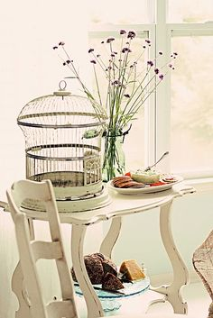 birdcage & larkspur