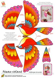 See 13 Best Photos of Paper Bird Template. Paper Puppets, Paper Toys, Paper Birds, Paper Flowers, Origami Paper, Diy Paper, Bird Template, Papier Diy, Paper Animals