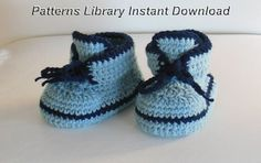 Crochet Pattern Baby Booties by patternslibrary on Etsy, $4.50