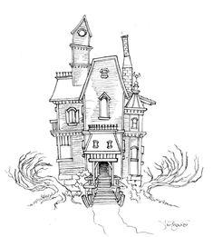 Haunted House Sketch 01 by ~Magikmarker16 on deviantART