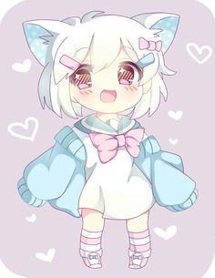 Adore chibis ♥ in 2019 kawaii anime, anime chibi, cute ani Anime Neko, Chibi Neko, Dibujos Anime Chibi, Cute Anime Chibi, Chibi Girl, Kawaii Chibi, Kawaii Anime Girl, Anime Art Girl, Arte Do Kawaii